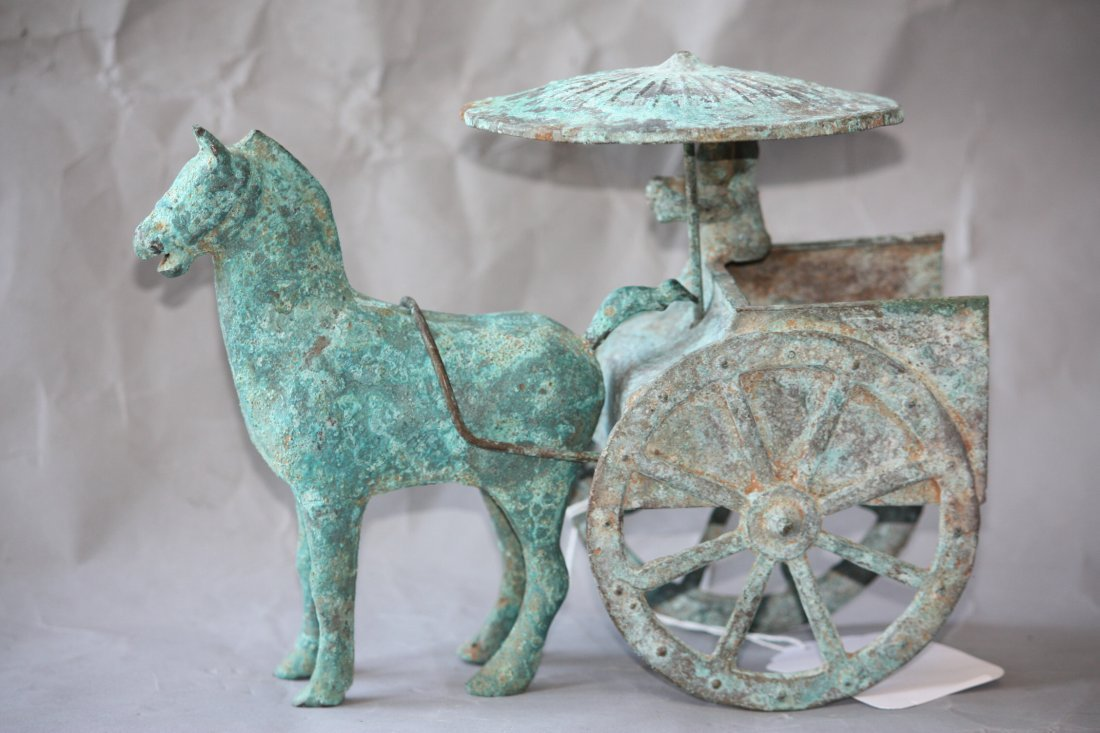 21: Chinese Bronze Horse and Cart