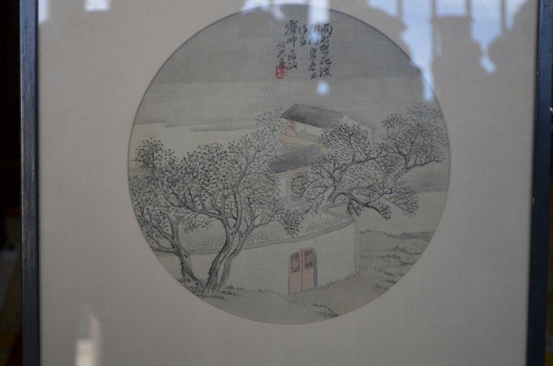 4: Framed Chinese Painting Inscribed Wng Ding