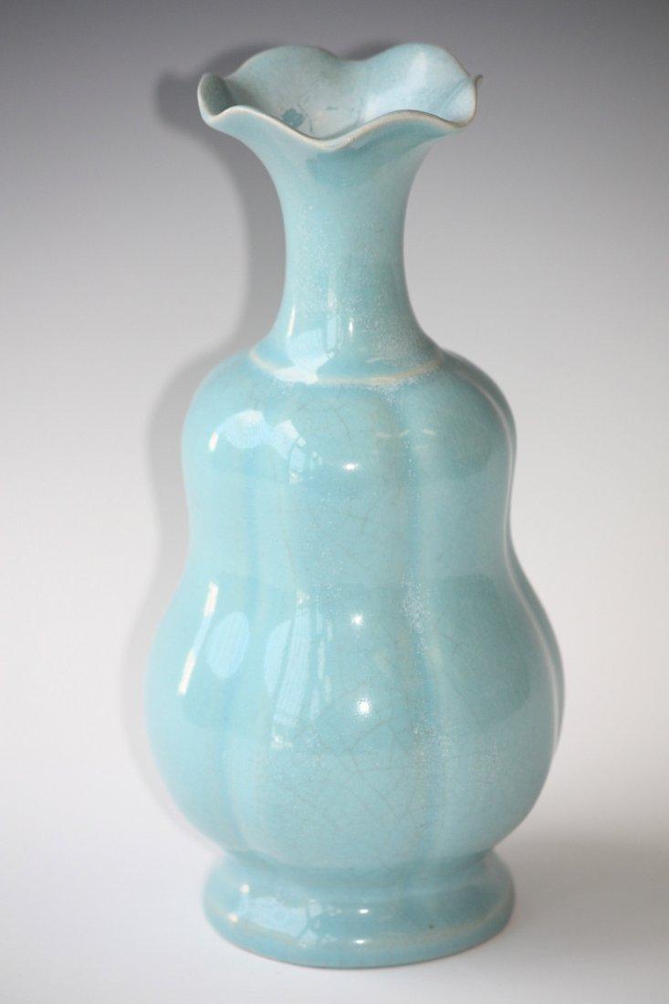 12: Antique Chinese Blue/Turquoise Glaze Porcelain Vase