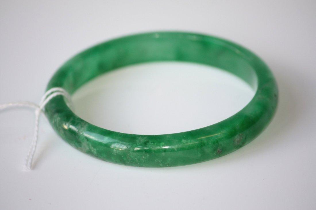 22: Natural Green Jadeite Bangle