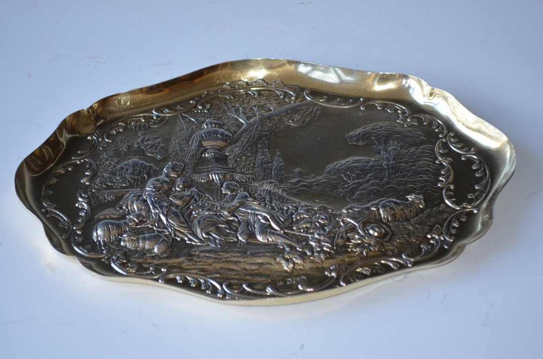 17: English Sterling Silver Tray