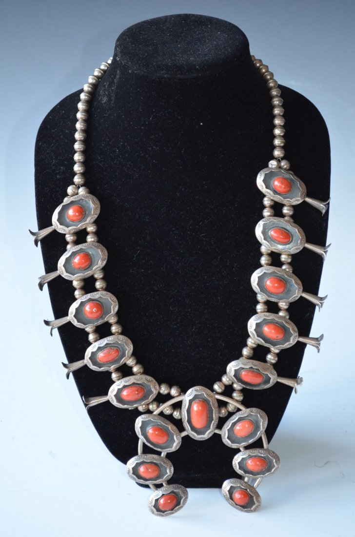 19: Sterling Silver & Natural Coral Necklace