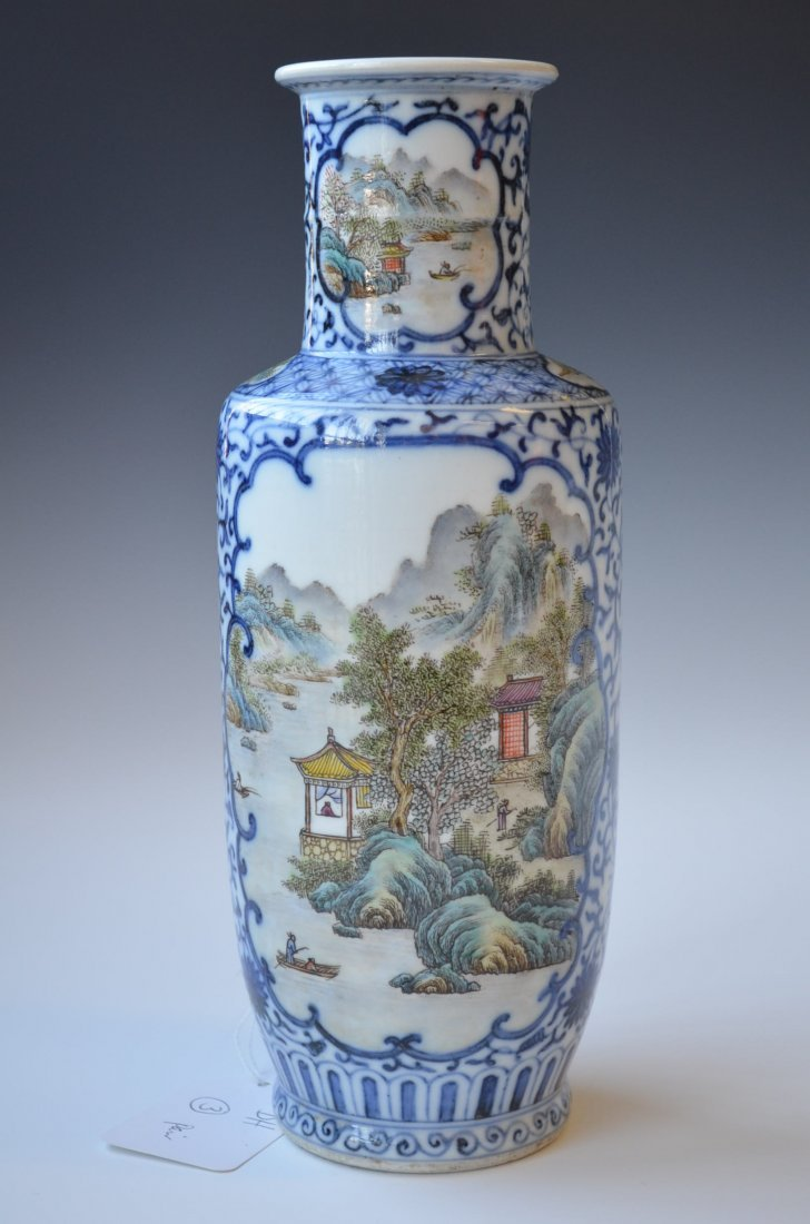 3: Pair of Chinese Famille Rose Porcelain Vases