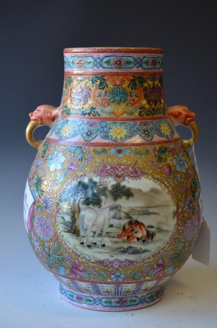 6: Chinese Famille Rose Porcelain Vase