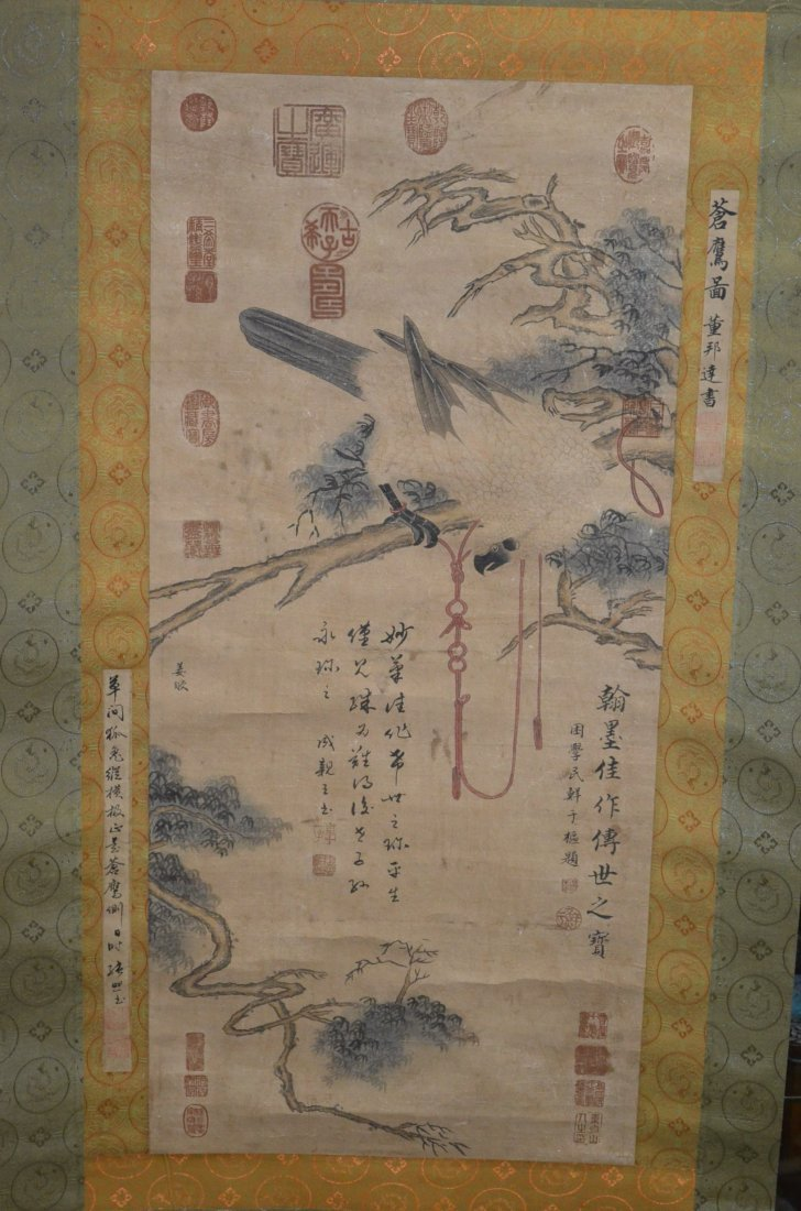 11: Chinese Scroll Painting of a Parrot