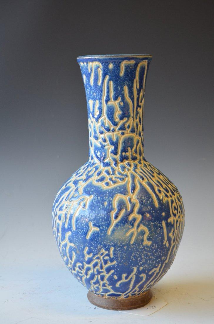 15: Chinese Blue & White Glazed Vase