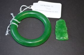 21: One Green Bangle and Pendant