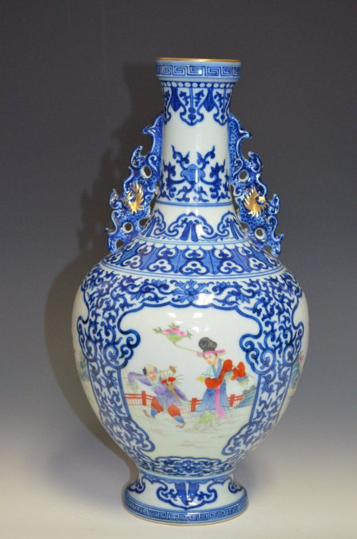 Chinese Blue & White and Famille Rose Enamel Pain