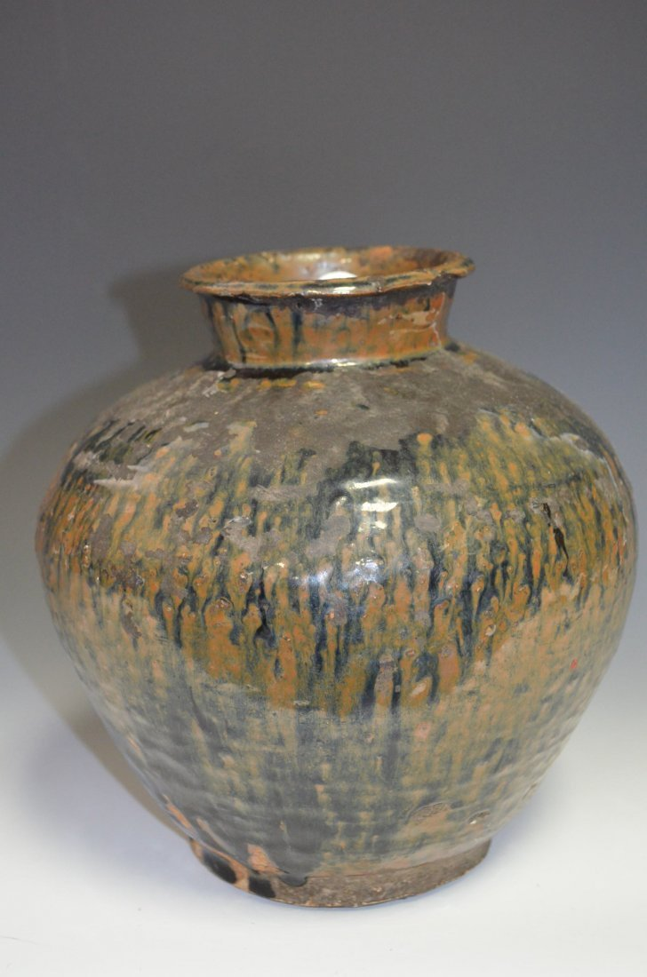 5: Chinese Porcelain Splash Glazed Vase