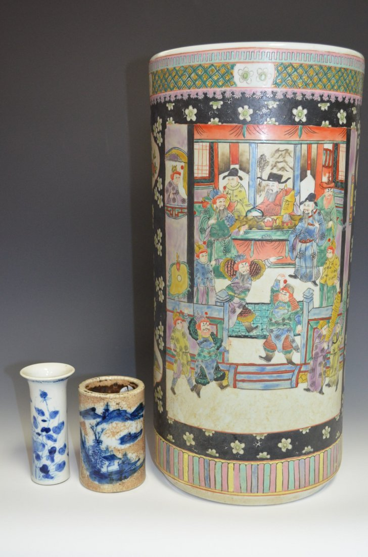 8: Three Chinese Porcelain Vases
