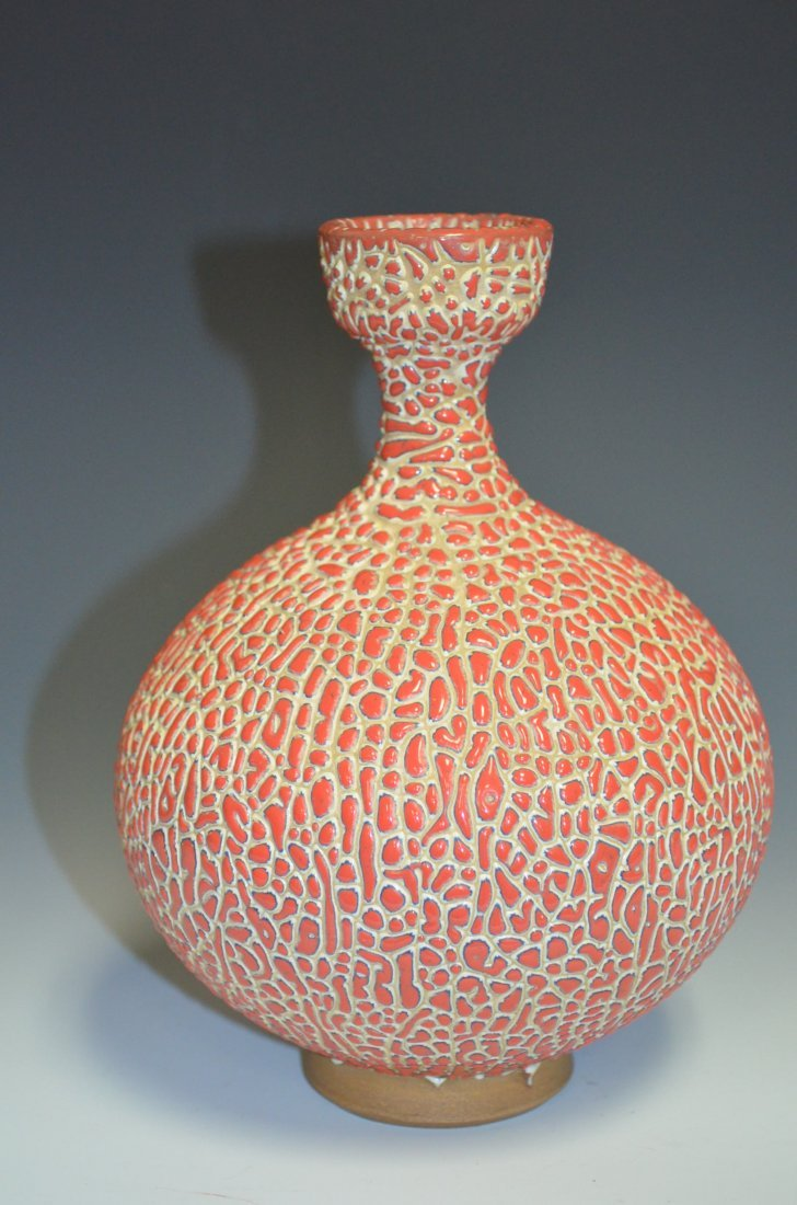 17: Chinese Jung Jizhou Red Bottle Vase