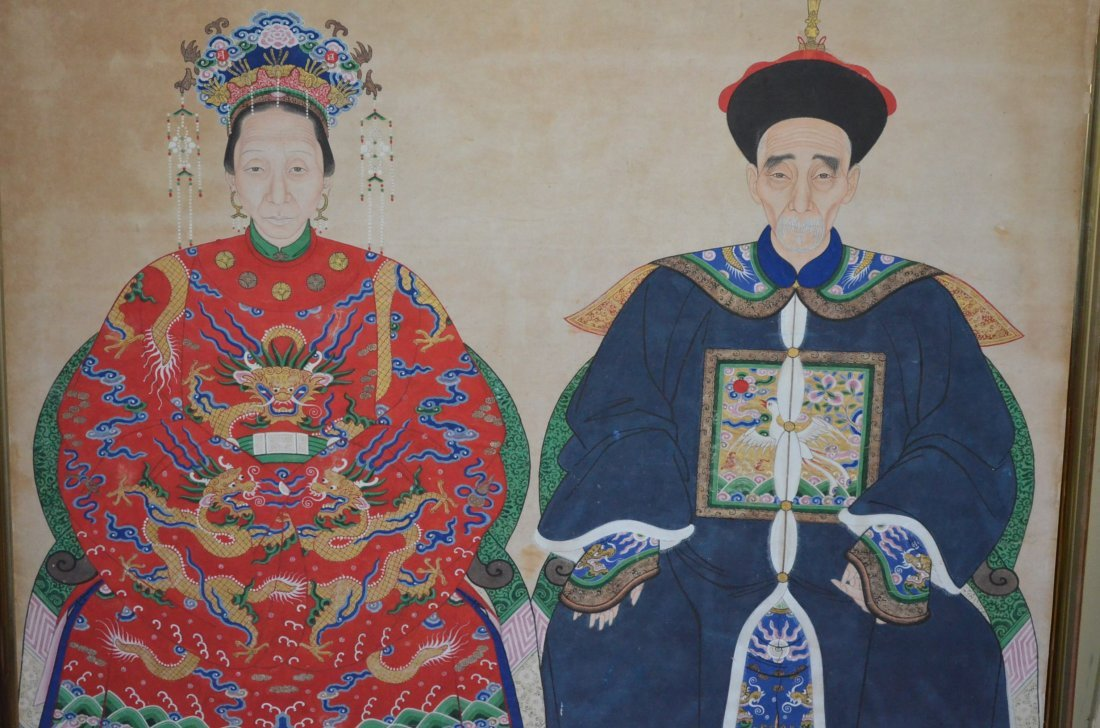229: Chinese Ancestor Painting of the Emperor & Empress