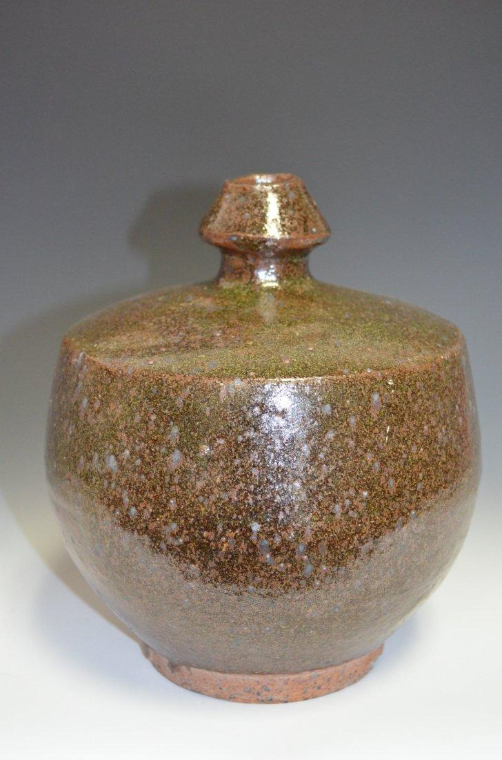 Chinese Tea Dust Glazed Ceramic Vase