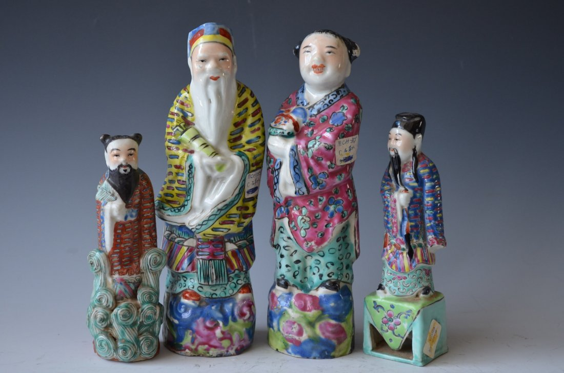 Chinese Porcelain Figuresm Four Pieces