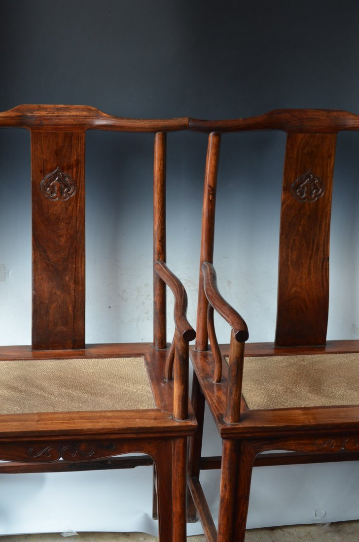 Pair of Antique Chinese Huanghuali Chairs