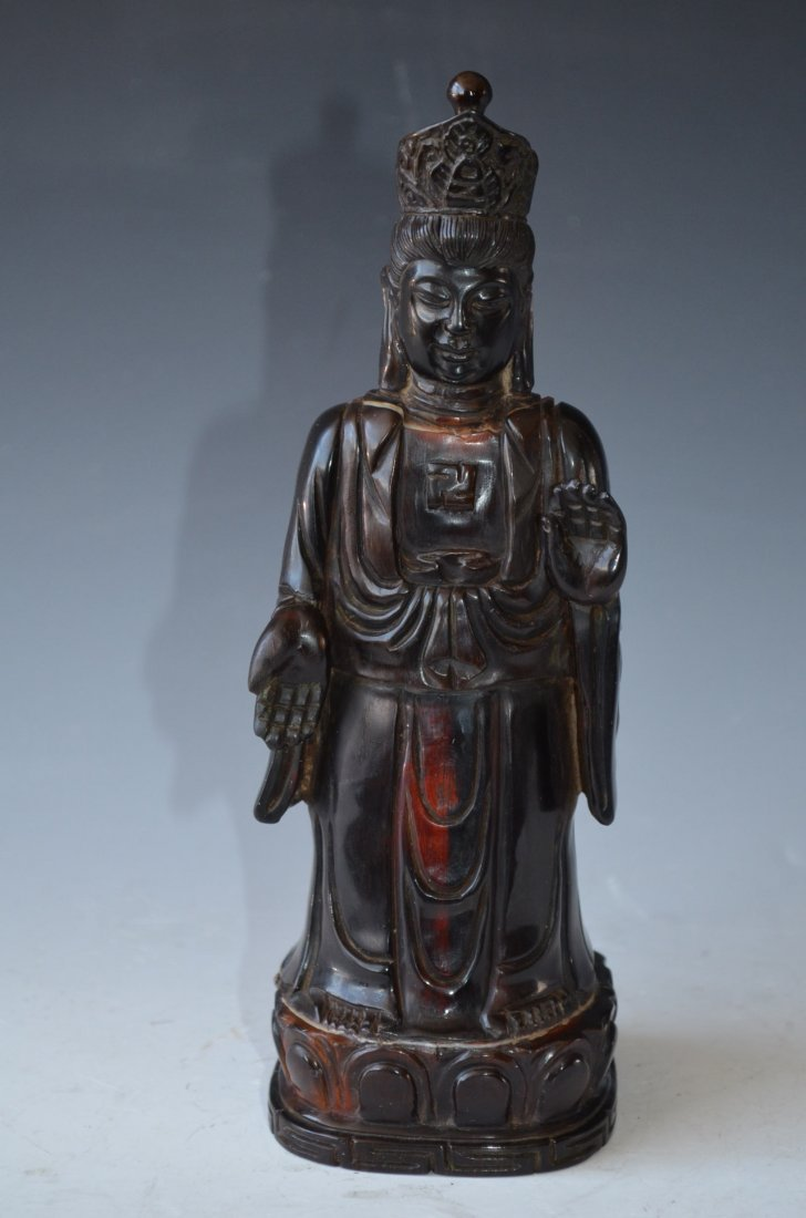 Carved Horn Standing Buddha