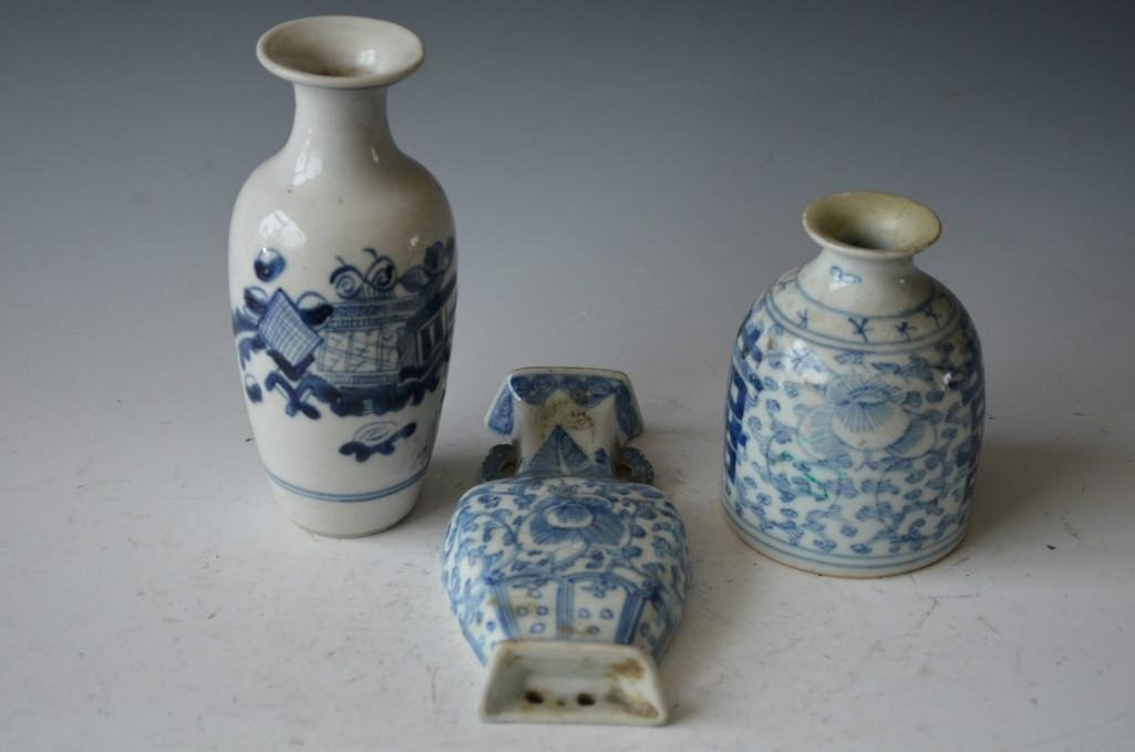 Three Chinese Blue & White Items