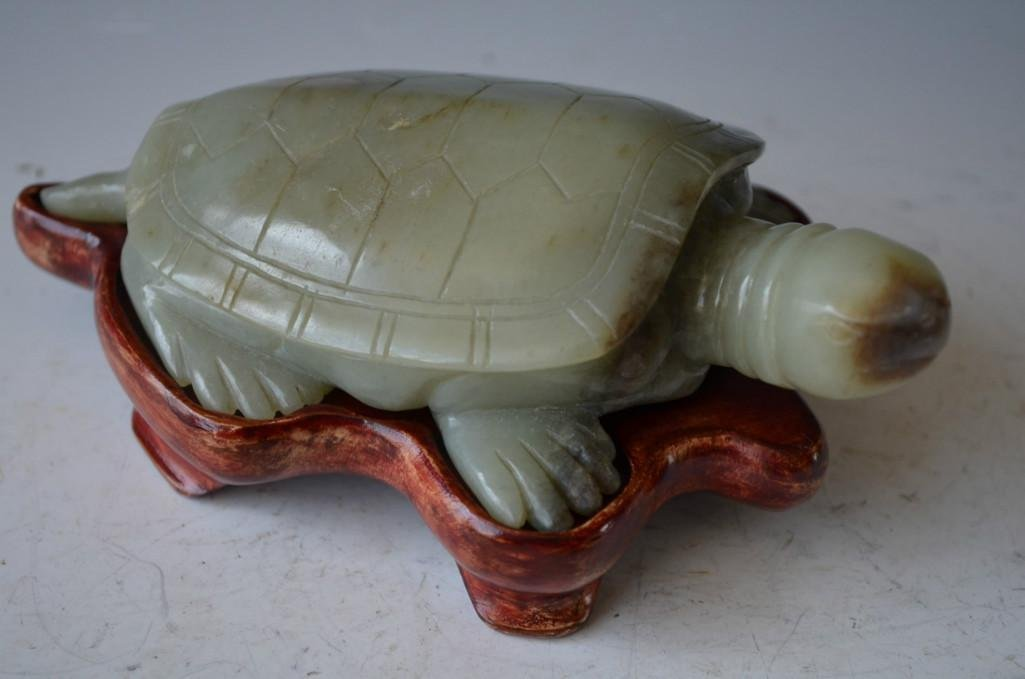 Carved Jade Turtle