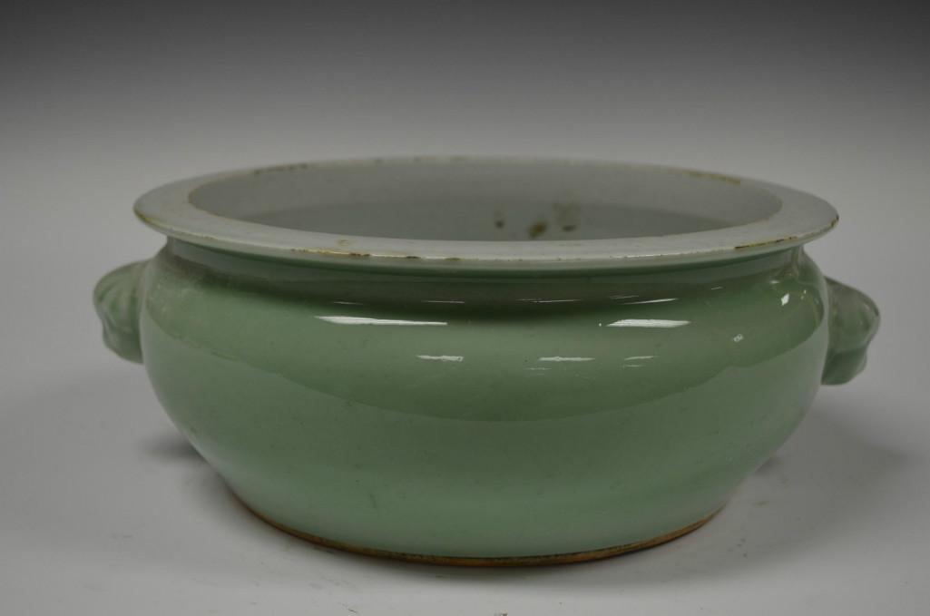 Chinese Pale Green Glaze Porcelain Vase