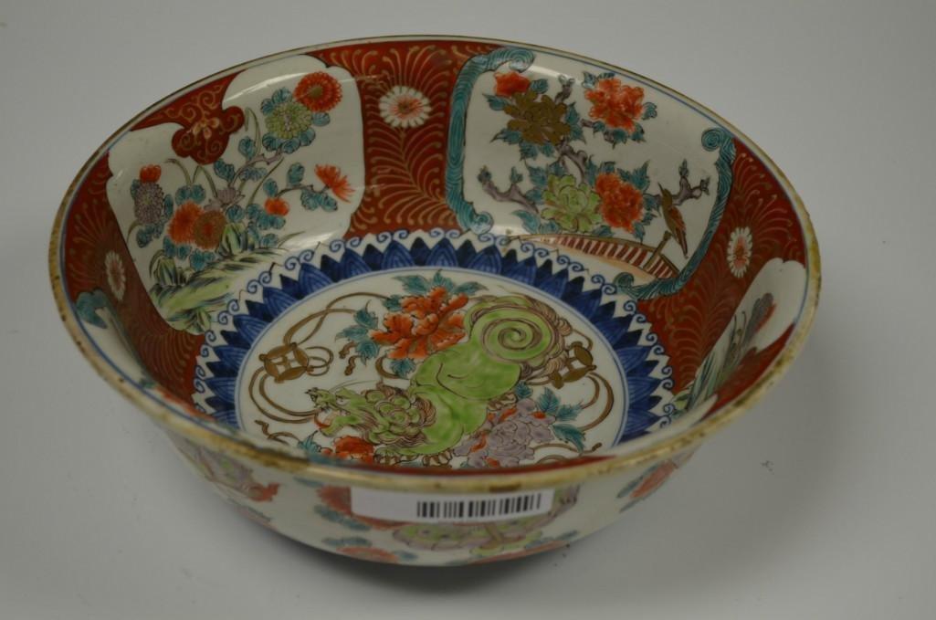 Antique Chinese Imari Porcelain Bowl