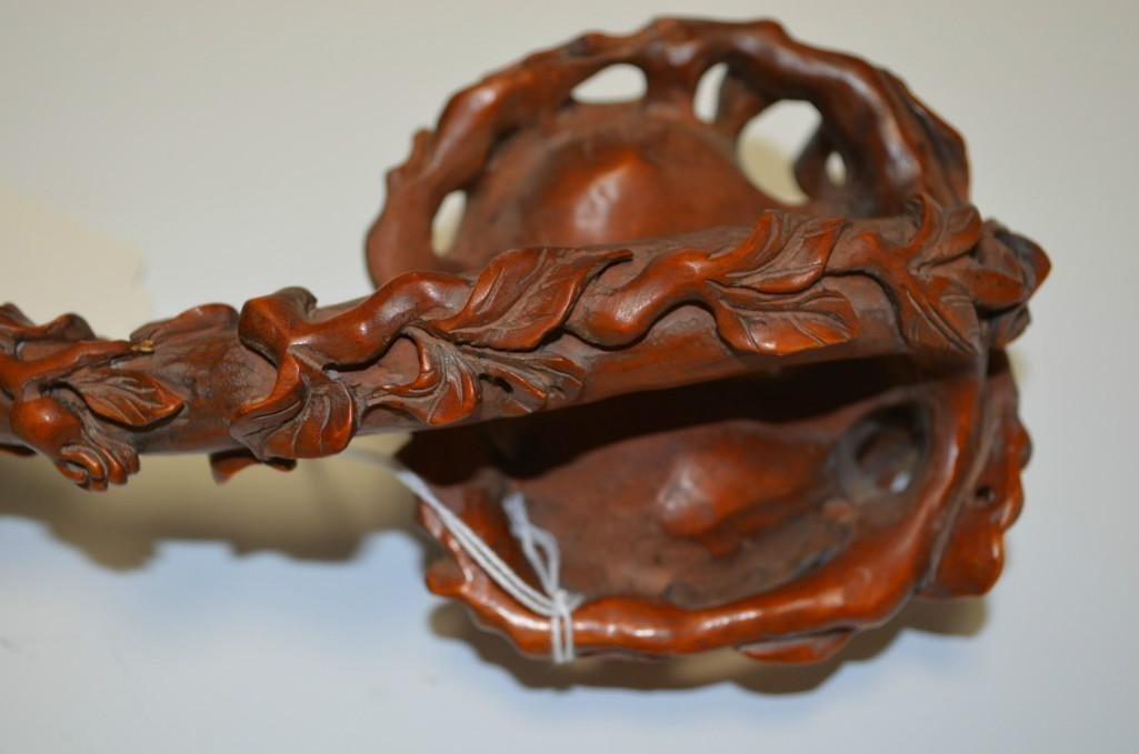 Carved Box Wood Ruyi Sceptor - 4