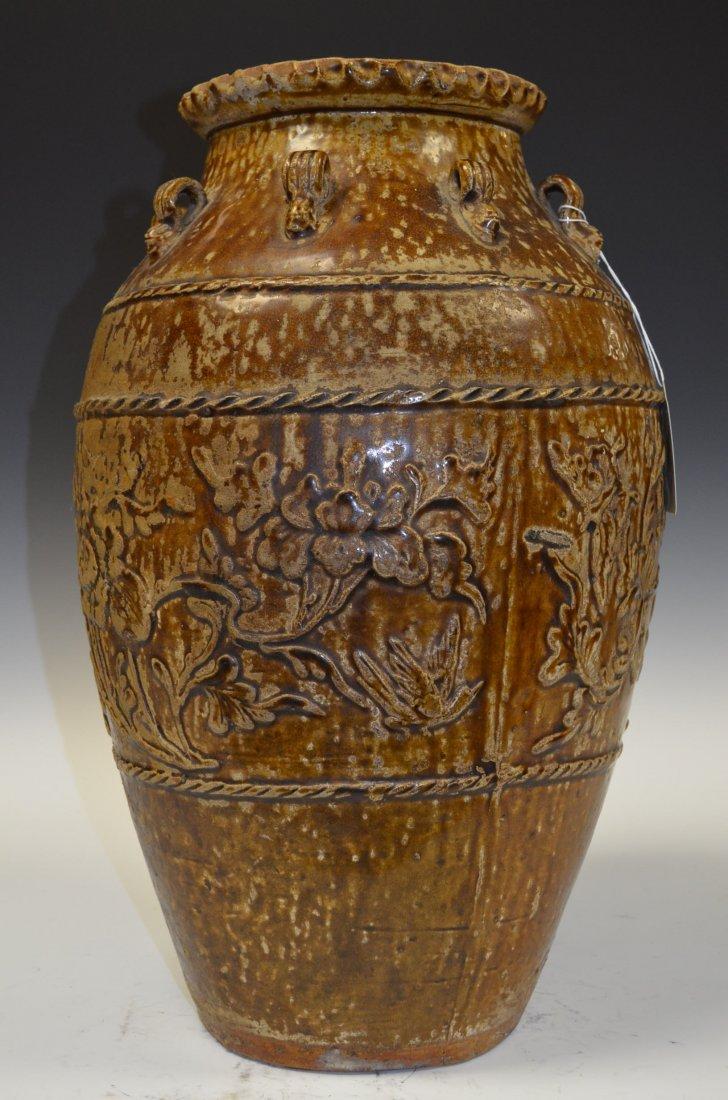 Antique Chinese Brown Glaze Porcelain Vase