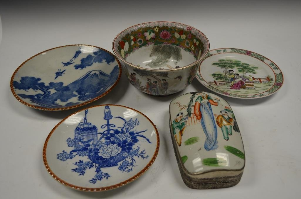 Five Various Chinese Porcelain Items