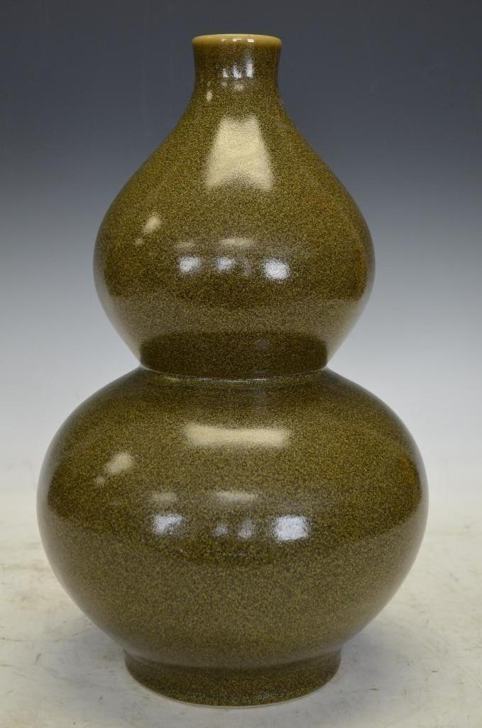 Chinese Double Gourd T-Dust Glaze Porcelain Vase
