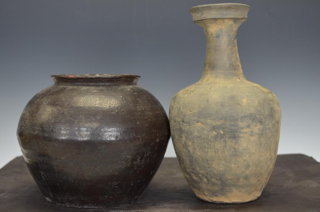 Two Korean Goryo Dynasty Porcelain Vases