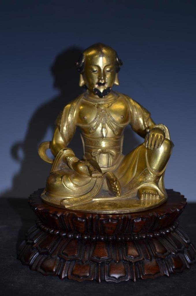 Antique Gilt Bronze Seated Buddha