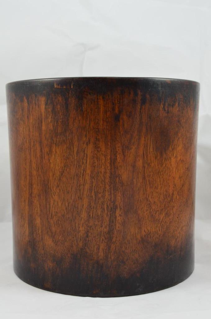 Carved HuangHuali / Hardwood Brush Pot