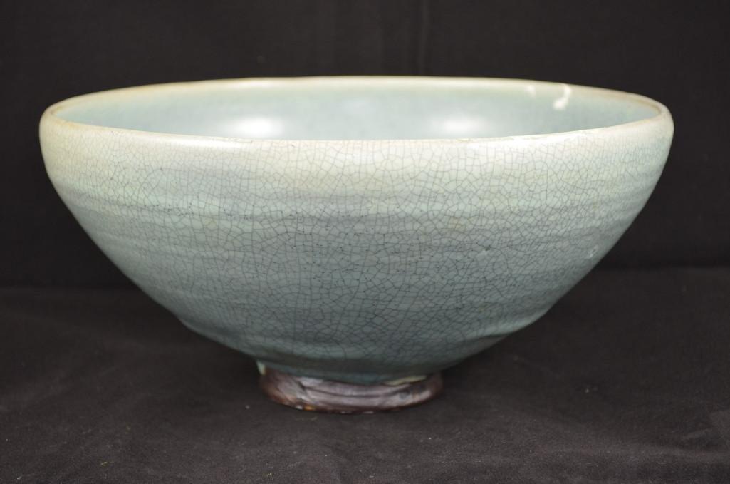 Chinese Junyo Glazed Porcelain Footed Bowl