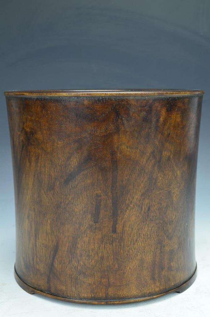 Carved Hardwood Brush Pot