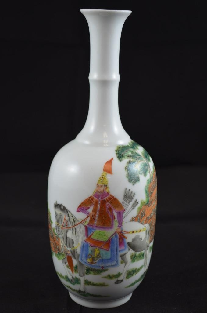 Two Chinese Famille Rose Porcelain Bottles