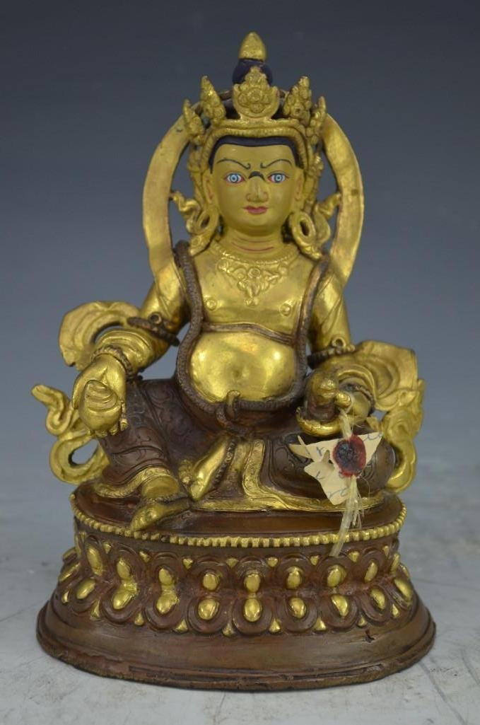 Gold Gilt Bronze Seated Buddha