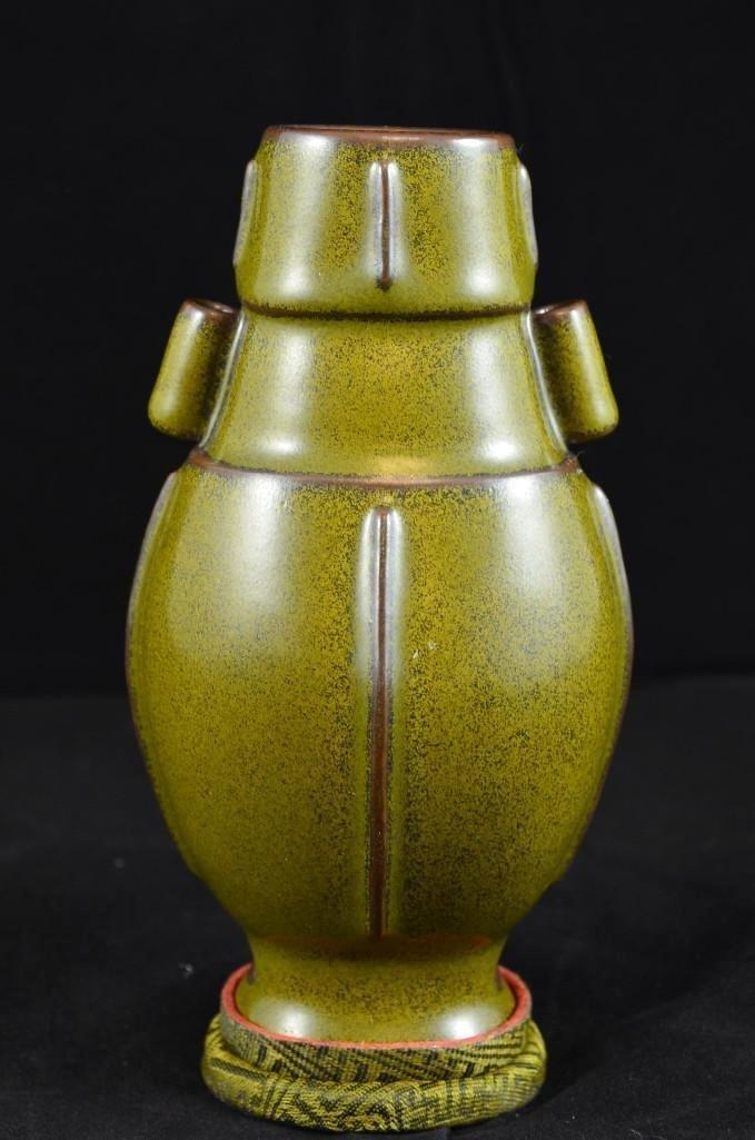 Antique Chinese Tea Dust Glaze Porcelain Vase