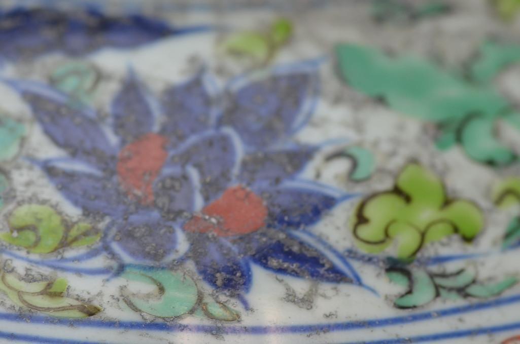 Chinese Wucai Glazed Lidded Jar - 6