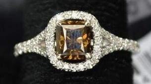 1.0 ct. Fancy Yellow Diamond Ladies Ring with GIA Cert.