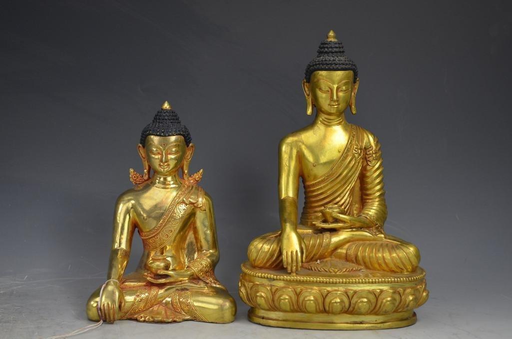 Two Bronze Buddhas