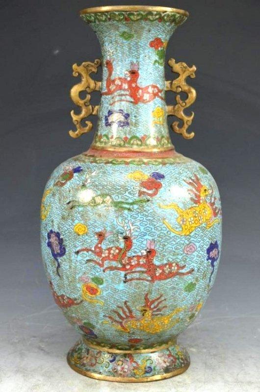 Bronze Cloisonne Vase