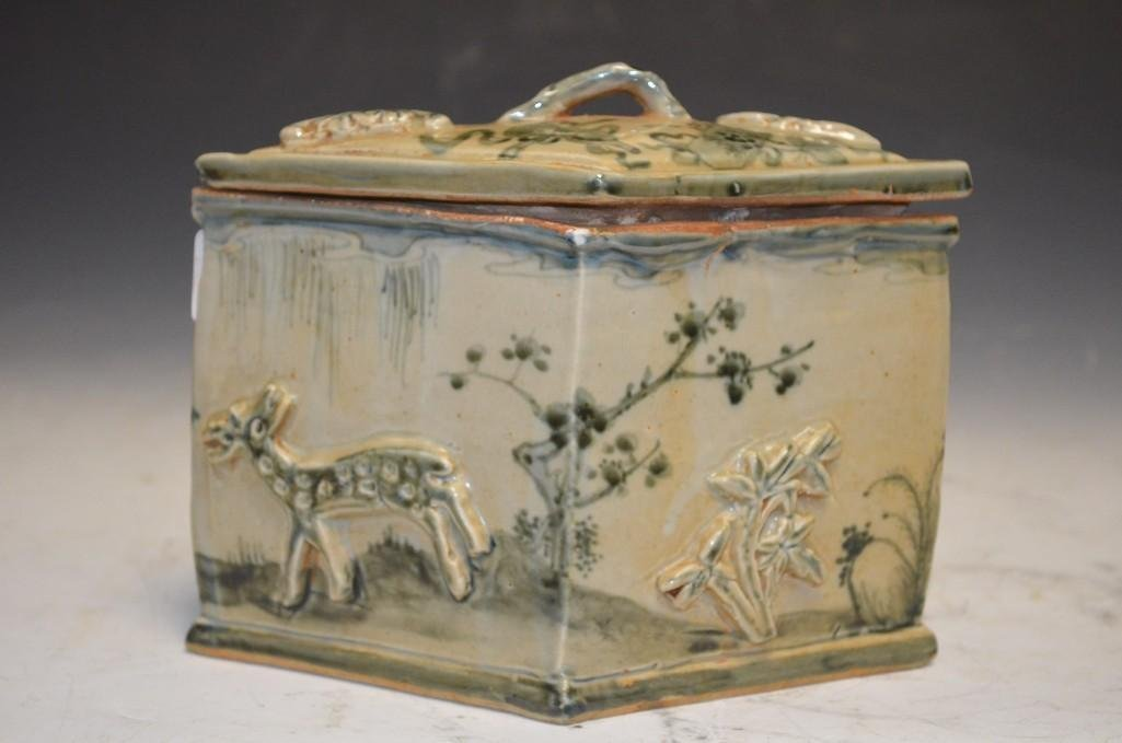Chinese Porcelain Lidded Square Box