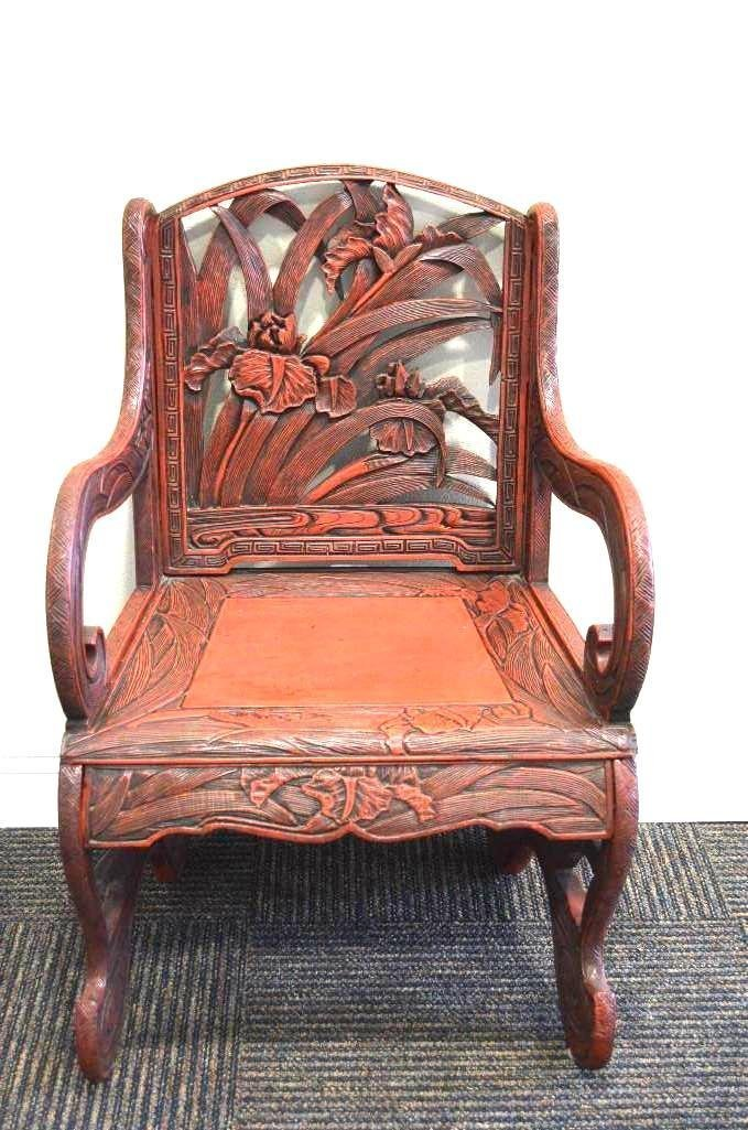 Chinese Red Lacquer Chair