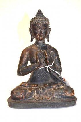 Chinese Seated Bronze Buddha