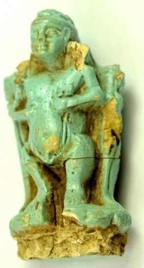 Ancient Egyptian Fiance Pendant Of God Ptah 600 B.c.