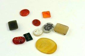 Ten Various Islamic Seal With Inscription
