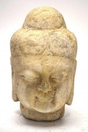 Chinese Stone Head Of Buddha