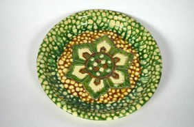 Chinese Sancai Glaze Dish