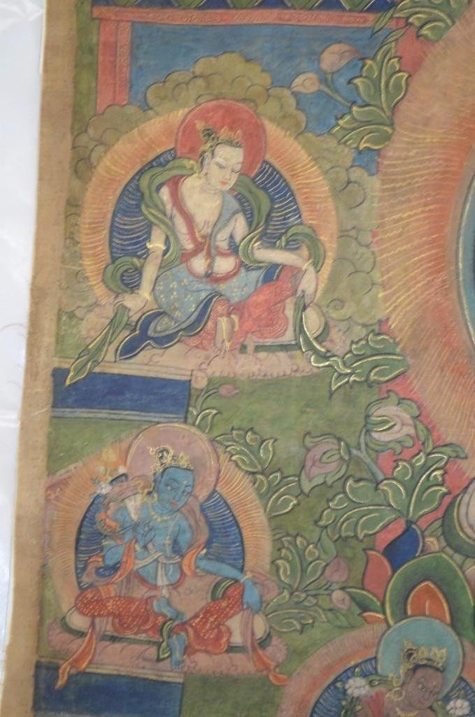 Antique Tibetan Painting on a Scroll