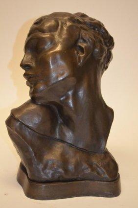 Bronze Statue After August Rodin