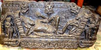 Carved Schist Indian Deity Statue